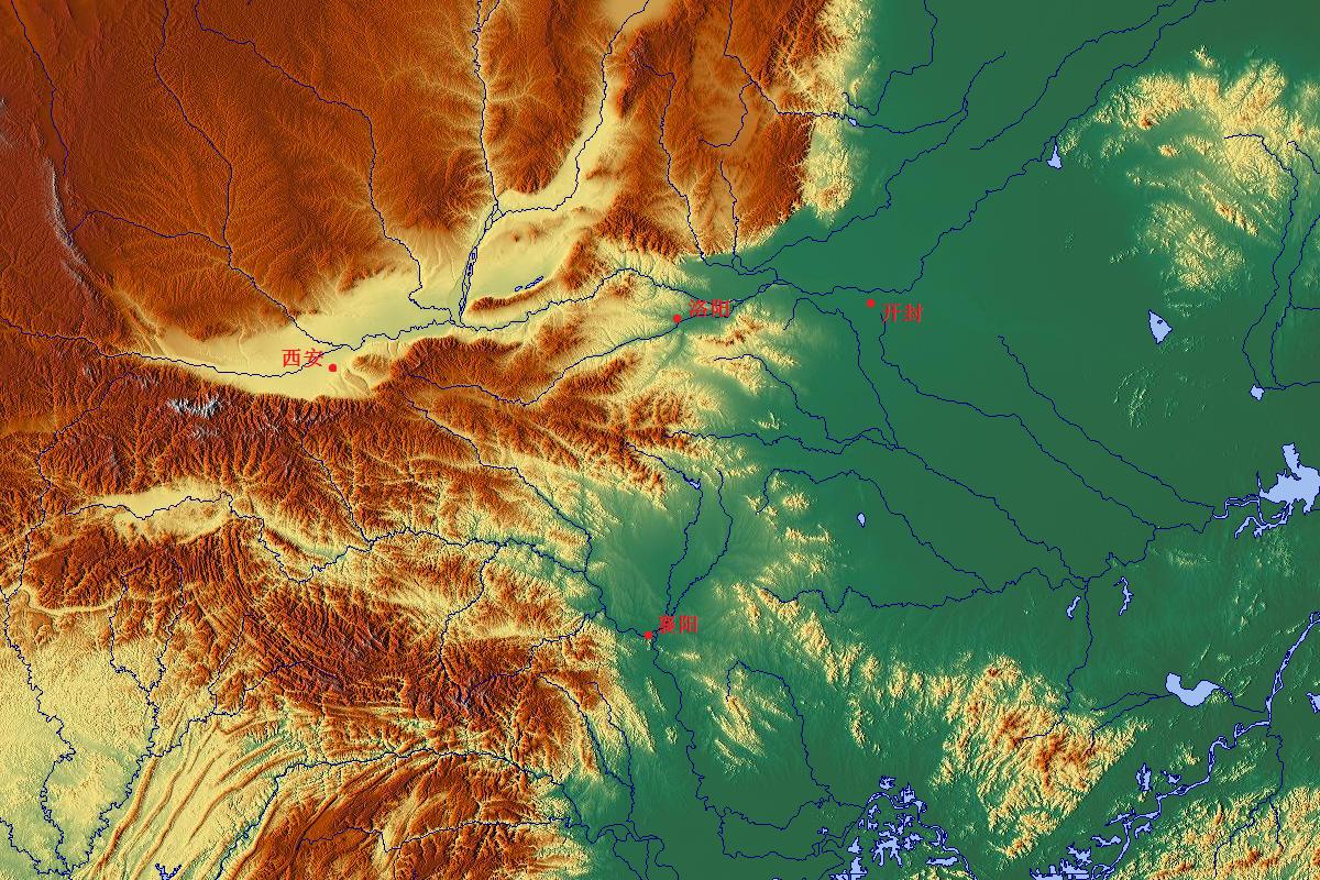 核心区地形图