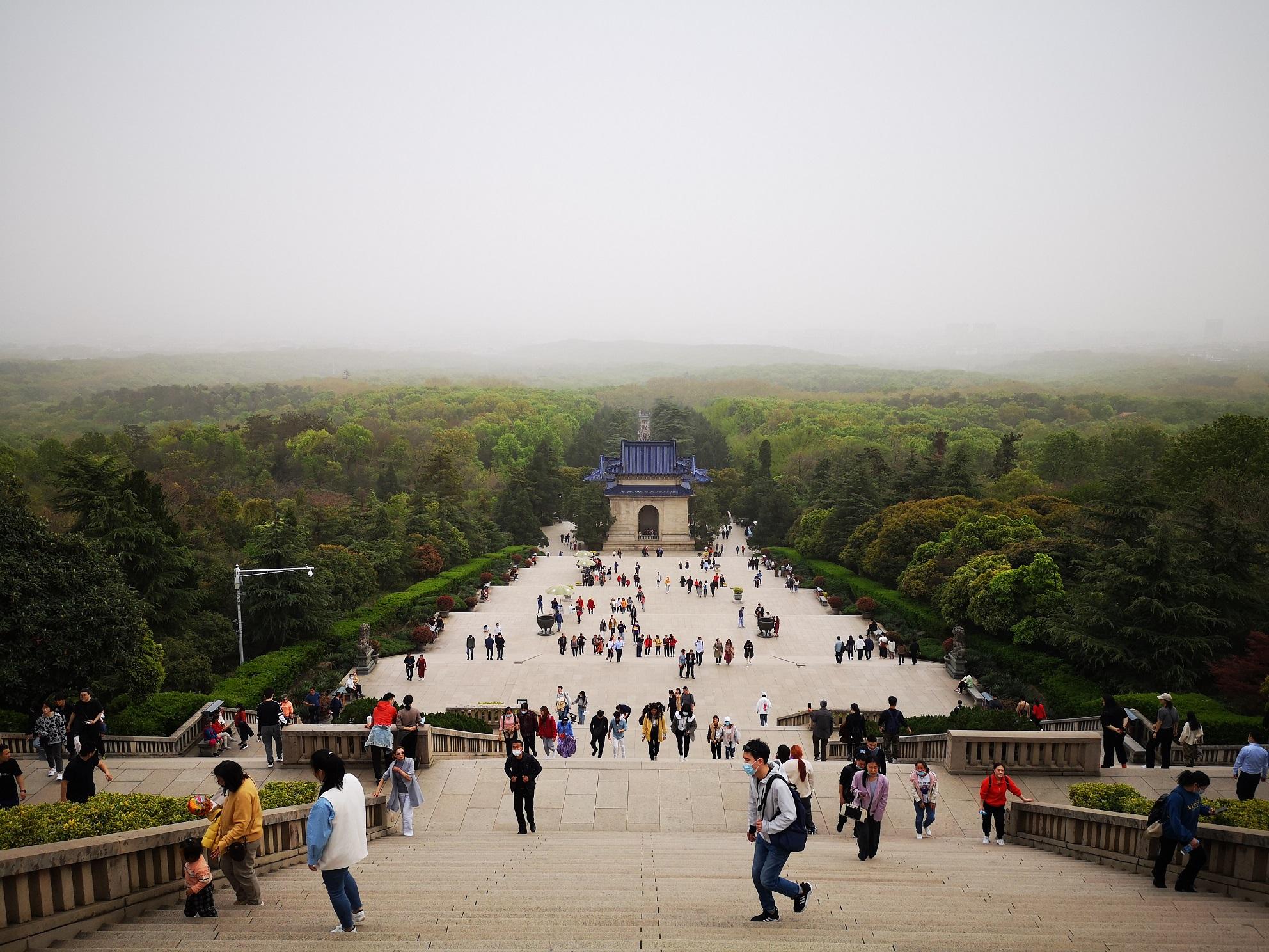 中山陵的景色